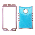 Rocker Series Snap-On Protector Case for Apple iPhone 6 Plus (Crystal Design/Glittery Blue)