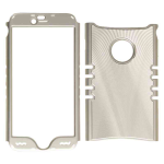 Rocker Series Snap-On Protector Case for Apple iPhone 6 Plus (Metal Case/Silver with Silver Border)