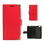 Unlimited Cellular Wallet Diary Case for Apple iPhone 6 Plus - Red
