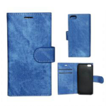 Wallet Diary Protector Case for Apple iPhone 6 Plus (Blue)
