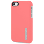 Incipio DualPro Shock Absorbent Case for Apple iPhone 5C - Coral Pink/Light Gray