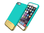 Incipio Edge Chrome Shock-absorbing Case for Apple iPhone 6/6S - Teal/Gold