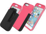 Incipio Performance Series Level 5 Case with Holster and Screen Protector for Apple iPhone 6/6S (Coral/Gray)
