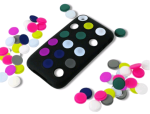 Incipio Dotties Case for Apple iPhone 3G/3GS - Black with Combination Dot Colors