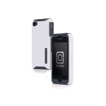 Incipio SILICRYLIC Kickstand Case for iPhone 4/4s - White/Gray