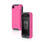 Incipio Stowawy Credit Card Case for Apple iPhone 4/4S - Pink/Gray