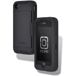 Incipio Stowaway Credit Card Case for Apple iPhone 4/4S - Black