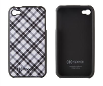 SPECK Fitted Fashion-wrapped hard shellcase. Tartan Plaid White.