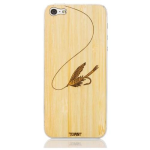 Toast Fly Fishing Wood Cover for Apple iPhone 5/5S - Bamboo