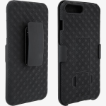 Unlimited Cellular Rubberized Kickstand Holster for Apple iPhone 7, 6s, 6 (Black)