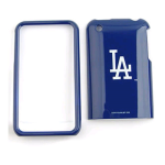 MLB Los Angeles Dodgers Protective Case for Apple iPhone 3G - Blue