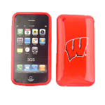 MLB Wisconsin Badgers Protective Skin for Apple iPhone 3G