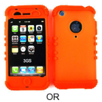 Rocker Series Skin Protector Case for Apple iPhone 3G (Orange)