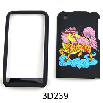 Unlimited Cellular Snap-On Case for Apple iPhone 3G (3D Embossed, Colorful Kirin on Black)