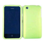 Cell Armor Snap-On Case for Apple iPhone 3G - Honey Emerald Green, Leather Finish