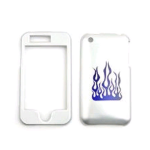 Cell Armor Snap-On Case for Apple iPhone 3G - Laser Cut Blue Flame