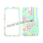 Cell Armor Snap-On Case for Apple iPhone 3G - Glow in the Dark, Colorful Circles & Stripes on White