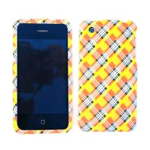 Cell Armor Snap-On Case for Apple iPhone 3G - Orange/Yellow Plaid