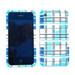 Cell Armor Snap-On Case for Apple iPhone 3G - Blue/White Blocks