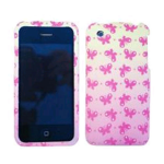 Cell Armor Snap-On Case for Apple iPhone 3G - Small Pink Butterflies on Light Pink