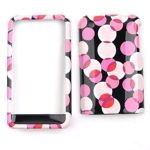Cell Armor Snap-On Protector Case for Apple iPhone 3G - Muiti Pink Polka Dots on Black