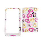Cell Armor Snap-On Case for Apple iPhone 3G - Multi Funky Hearts on White
