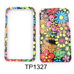Unlimited Cellular Snap-On Case for Apple iPhone 3G (Colorful Flowers on Black)