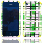 Cell Armor Snap-On Case for Apple iPhone 3G - Transparent Design, Green/Pink/Yellow Blocks