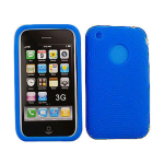 Unlimited Cellular Deluxe Silicone Texture Skin Case for Apple iPhone 3G (Blue)