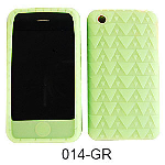 Unlimited Cellular Deluxe Silicone Texture Skin Case for Apple iPhone 3G (Green)