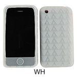 Unlimited Cellular Deluxe Silicone Texture Skin Case for Apple iPhone 3G (White)