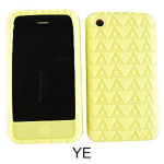Unlimited Cellular Deluxe Silicone Texture Skin Case for Apple iPhone 3G (Yellow)