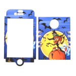 Unlimited Cellular Rocker Snap-On Case for Apple iPhone 4/4S (Blue/Yellow Halloween Series)