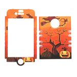 Unlimited Cellular Rocker Snap-On Case for Apple iPhone 4/4S (Pumpkin Halloween Series)