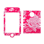 Rocker Series Snap-On Protector Case for Apple iPhone 4 / 4S (Flowers on Pink)