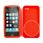 Cell Armor Deluxe Textured Silicone Skin Case for Apple iPhone 4G - Red