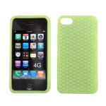 Cell Armor Deluxe Silicone Texture Skin Case for Apple iPhone 4G - Green