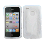 Cell Armor Deluxe Silicone Texture Skin Case for Apple iPhone 4G - White