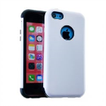 MYVI Series Slim Hybrid Protector Case for Apple iPhone 5 / 5S (Honey White Snap with Black Skin)