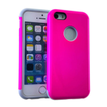 MYVI Series Slim Hybrid Protector Case for Apple iPhone 5 / 5S (Grey Skin and Pink Snap)