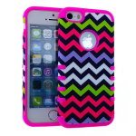 Rocker Series Slim Protector Case for Apple iPhone 5 / 5S (Yellow/Pink/Blue/White Chevron)