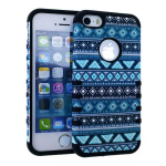 Rocker Series Slim Protector Case for Apple iPhone 5 / 5S (Tribal Design Snap and Black Skin)