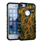 Rocker Series Slim Protector Case for Apple iPhone 5 / 5S (Hunter with New Shedder Grass Snap and Black Skin)