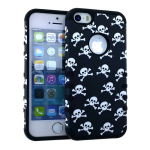Rocker Series Slim Protector Case for Apple iPhone 5 / 5S (Skull Design)