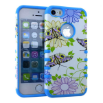 Rocker Series Slim Protector Case for Apple iPhone 5 / 5S (Flower Design)
