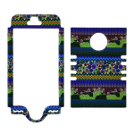 Rocker Series Snap-On Protector Case for Apple iPhone 5 / 5S (Tribal Design)