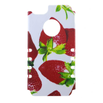 Rocker Slim Snap-On Case for iPhone 5S-Strawberry Design