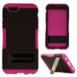 Hopper Protector Case for Apple iPhone 6 (Black Skin and Rubberized Dark Purple Snap with Stand)