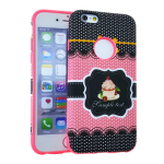 MYVI Series Slim Hybrid Protector Case for Apple iPhone 6 (Pink Skin and Cake Design Snap)
