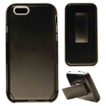 Novelty Protector Case for Apple iPhone 6 (White Skin/Black Holster)